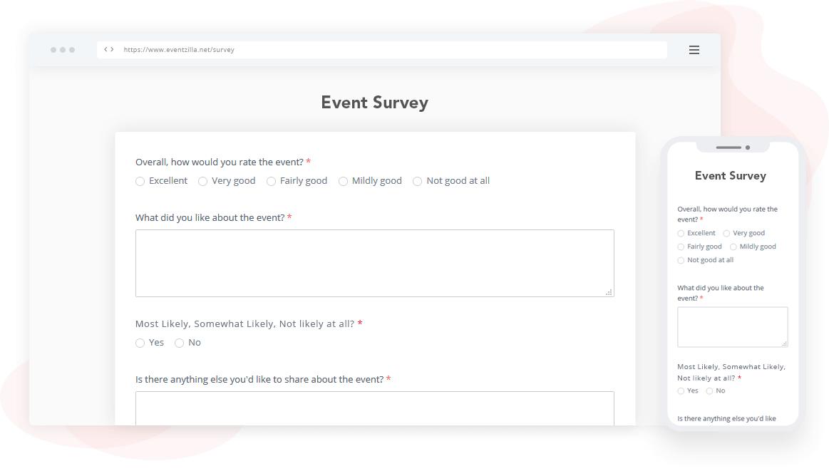 Get valuable feedback before, during & post-event
